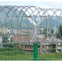 Alambre de púas galvanizado de la maquinilla de afeitar del hierro para la cerca