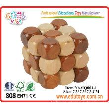 Cubo de madera IQ Puzzle Juego - DIY Juguetes educativos
