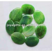 40 * 30 * 8MM lose grüne Achat-Stein-ovale Korne
