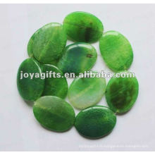 40 * 30 * 8MM perles d'ovale en pierre d'agate vert