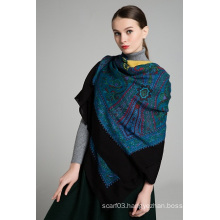 Paisely Printed Fashion Lady Wool Shawl