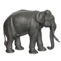 Outdoor Life Size Gray Bronze Elephant Sculpture