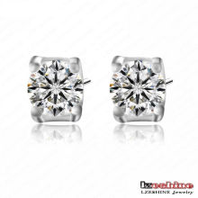 Round Cut Cubic Zirconia Stud Earrings for Girls (CER0024-B)