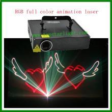 2015 DJ peralatan Laser lampu RGB animasi Laser projektor