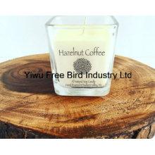 Vela de soja perfumada Natural mais popular - café de avelã