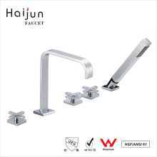 Haijun 2017 Unique Design Deck Mounted Waterfall Thermostatic Bathtub Faucets