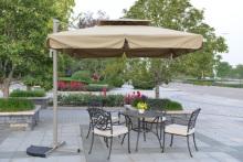 야외 우산 테라스와 고품질 옥외 안뜰 가구