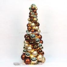 decoração de mesa conduzida árvore de ornamento de natal pequeno