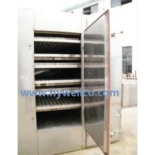 Secador de ar quente para grânulos de folhas