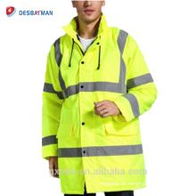 Fabrik Preis Benutzerdefinierte High Visibility Refelktive Arbeit Parka Winter Bau Sicherheitsjacke Arbeitskleidung