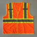 Canadá CSA Z96 chaleco de seguridad reflectante de color con cinta reflectante de advertencia