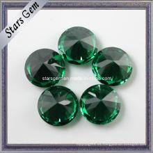 Precio competitivo de la fábrica Esmeralda oscura de color CZ Gemstone para joyería