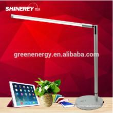 candeeiro de mesa de dobramento dimmable brilhante super do diodo emissor de luz do interruptor do toque do poder superior de 5W 7w