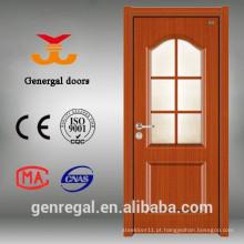 Top grade Design moderno Acabamento de vidro colocar porta de melamina