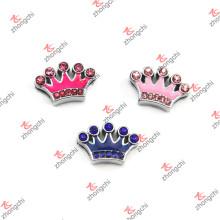 Corona de esmalte de colores con Crytal 8mm diapositivas encantos (SL15121440)