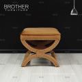 Good price living room home luxury x base fabric antique ottoman stool