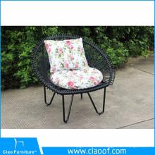 Chaise ronde en osier de jardin Chaise unique en forme de paon de conception