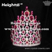 8inch Height Pink Diamond Queen Crowns-- Asteria Series