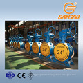 wholesale flange connection butterfly valve stainless steel butterfly valve 1200mm
