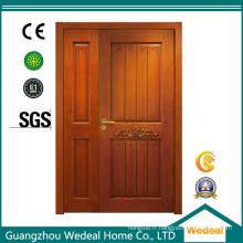 Porte intérieure en bois solide / PVC / WPC double pour l'hôtel