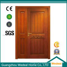 Solid Wooden/PVC/WPC Double Interior Door for Hotel
