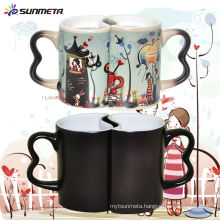 Sunmeta Hot Sale 11oz Heat-sensitive Coating Color Changing Couple Mug