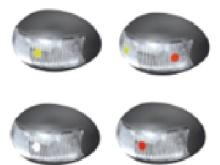Side Marker Lamp for Truck, Trailer, and Boat Trailer