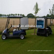 Tipo de combustible eléctrico, carro de golf para 2 personas con carga de puerta enrollable para la venta