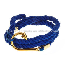 Wholesale Cheap Stainless Steel Accessories Anchor Nautical Navy Bracelet Jewelry Fashion Rope Bracelets for Women