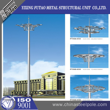 20M Galvanized High Mast Light Pole