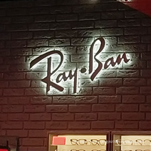 Metal Illuminated Wall Mounted Letters Outdoor Indoor Advertising  LED Acrylic Backlit Lights signage