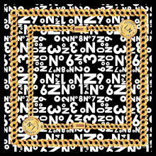 No. 1 Aich Square Chain Pattern 100% Silk Scarf
