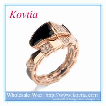Alibaba expresso peru cobra forma ouro anel preto óleo sexo animal guardanapo anéis