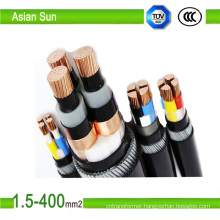 PVC/XLPE Insulated Power Cable with Rated Voltages 0.6/1kv