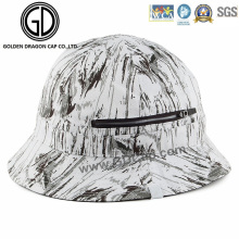 2016 New Style Cap Black White Graffiti Zipper Bucket Hat