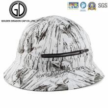 2016 New Style Cap Black White Graffiti Zipper Bucket Hat