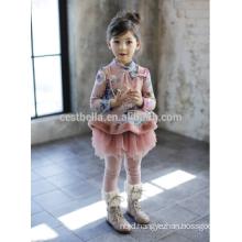 Nova Fabrica kids clothing flower girls dress designs baby girl european style elegant little girl winter Christmas dress