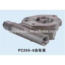 Bomba de engranajes de carga hidráulica KOMATSU PC200-6