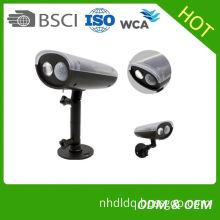 Factory LED Panel Shape Outdoor Garden Security Solar Motion Sensor Spot Light