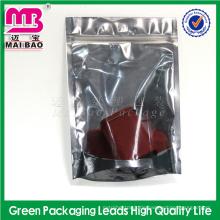 Aluminiumfolie LDPE-Plastikreißverschlusst-shirt Verpackungs-Beutel-Gewohnheit druckte Ziplock-Taschen