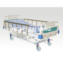 (A-46) -- Movable Three-Function Manual Hospital Bed with ABS Bed Head