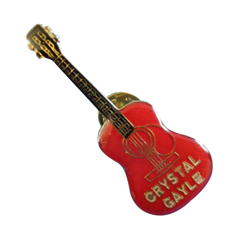 Country Music Guitar Lapel Hat Pin