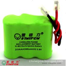 3.6V 350mAh NiMH Battery Pack - Wireless Tel Battery (VIP-2/3AAA-350)