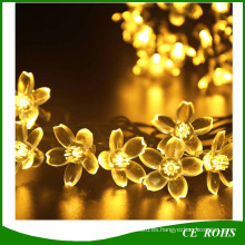 Holiday Lighting Solar 20 LEDs Al aire libre Cherry Christams Luces de cadena