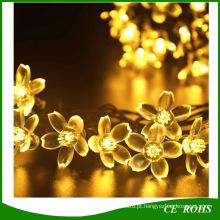 Férias de iluminação Solar 20 LEDs ao ar livre Cherry Christams String Lights