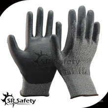 SRSAFETY 18G knitted liner coated PU Anti-cut safety working gloves