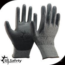 SRSAFETY 18G трикотажное покрытие с покрытием PU Защитные рабочие перчатки