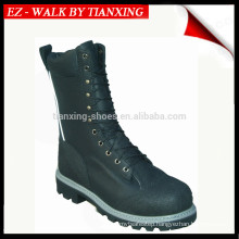 Waterproof leather logger boots