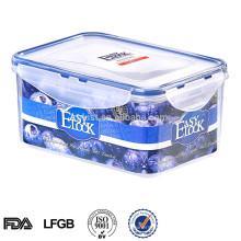 caja de almacenamiento de cocina decorativa de plástico con tapa