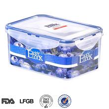 caixa de armazenamento de cozinha decorativa de plástico com tampa